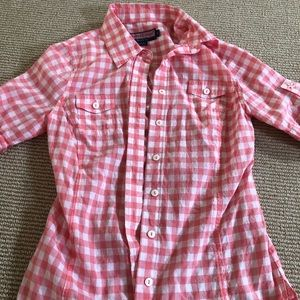 SIZE 0 Vineyard Vines Short Sleeve Button Down